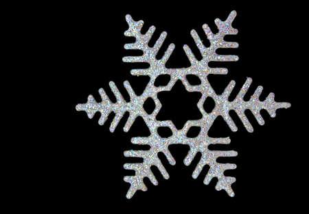 Weihnachten Schneeflocke auf schwarzem Hintergrund