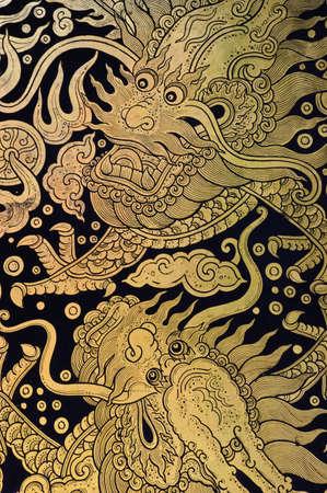 Twin Chinese dragon Stock Photo - 11848049