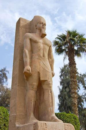 Standing statue of Ramses II in Memphis, Egypt Stock Photo