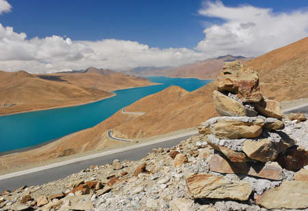 Yamdrok lake in Tibet photo