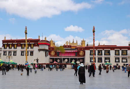 Jokhang temple at Barkhor square, Tibet Stock Photo - 12571879