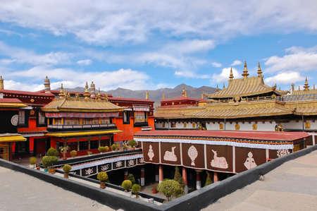 Jokhang Tempel in Lhasa, Tibet Editorial