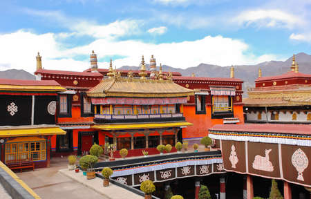 Jokhang Tempel in Lhasa, Tibet Standard-Bild