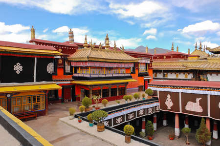 Jokhang temple in Lhasa, Tibet Stock Photo