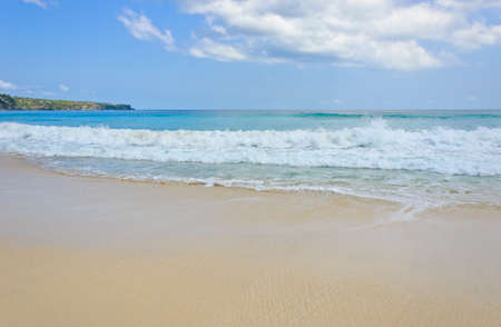 Beach and wave, Dreamland beach in Bali, Indonesia photo