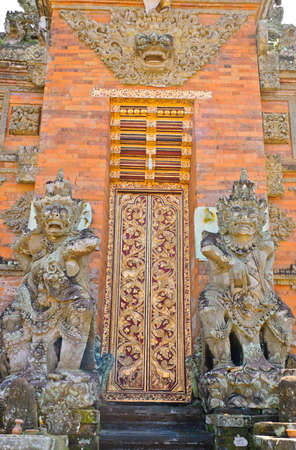 Balinese temple gate in Bail, Indonesia photo
