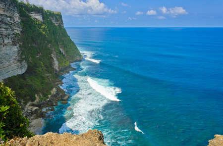 Uluwatu cliff bank in Bali, Indonesia photo