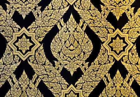 Ancient floral pattern in traditional Thai style Stock Photo - 13162963