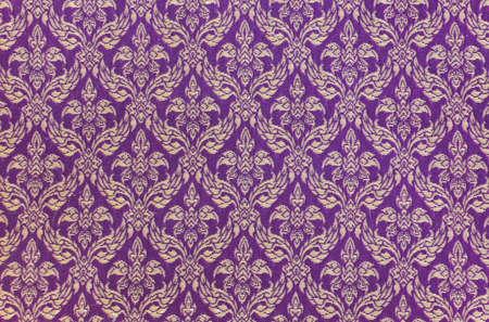 Thai gewebten Stoff Blumenmuster Standard-Bild - 13162966