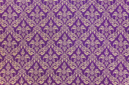 Thai woven floral pattern fabric