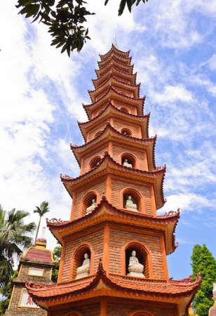 tran: Tran Quoc pagoda in Hanoi, Vietnam Stock Photo