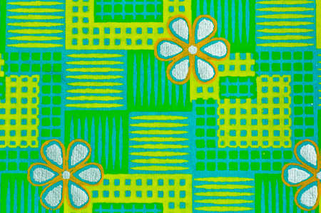 Green checked pattern paper for background photo