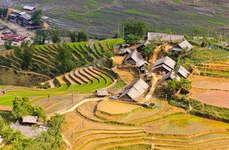 Ta Van village rice terraced fields, Vietnam  photo