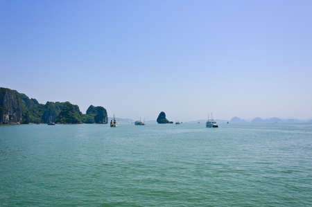 Seascape of Halong bay, Vietnam photo