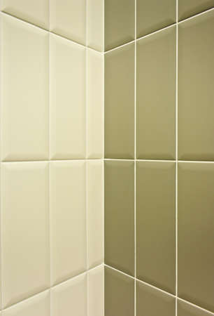 Two tone ceramic tiles wall photo