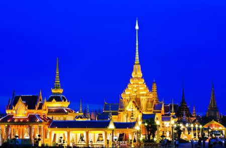 Thai royal crematorium in twightlight, Thailand photo