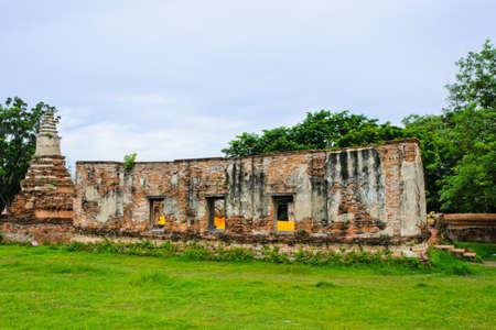Ruins Thai temple photo