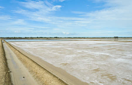 evaporation: Salt evaporation ponds in Thailand