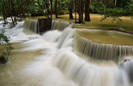 khamin: Beautiful waterfall in tropical rainforest, Thailand
