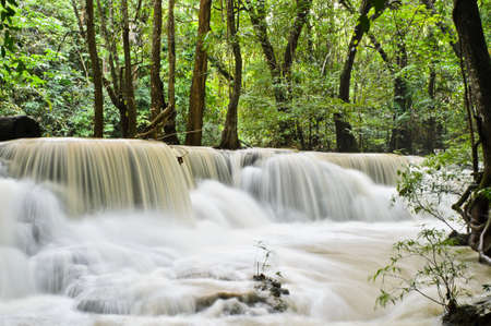 Beautiful waterfall in tropical rainforest, Thailand photo