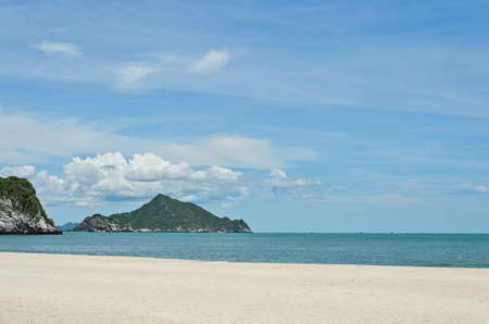Tropical sandy beach of Hat Laem Sala, Thailand photo