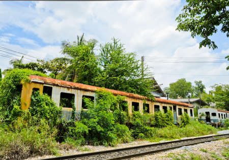 Old abandoned railroad car photo