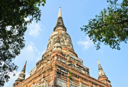 Pagoda at Wat Yai Chaimongkol, Ayutthaya, Thailand  photo