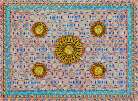 Thai art decorative on temple ceiling Stock Photo - 16255782