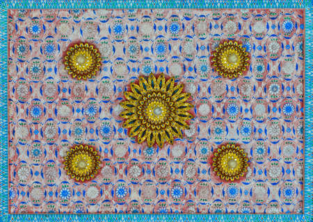 Thai art decorative on temple ceiling Stock Photo - 16255780