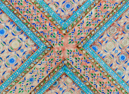 Thai art decorative on temple ceiling Stock Photo - 16255781