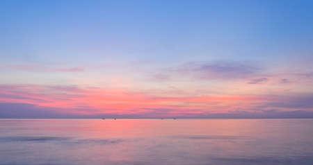 climate morning: Colorful sea sunrise