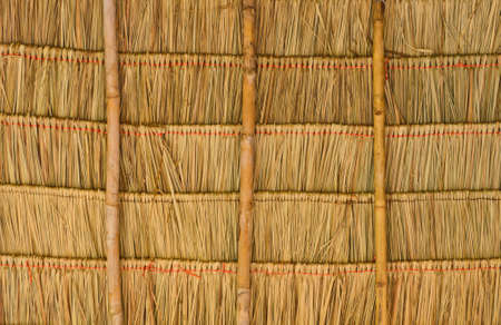 Tropical thatched roof in Thailand photo
