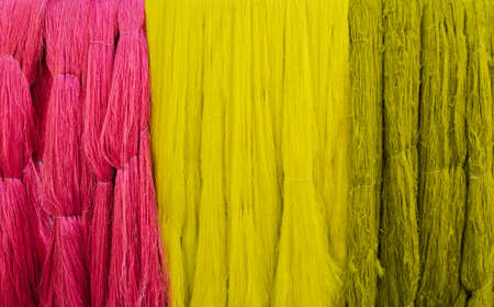 filament: Colorful of dyed silk filament