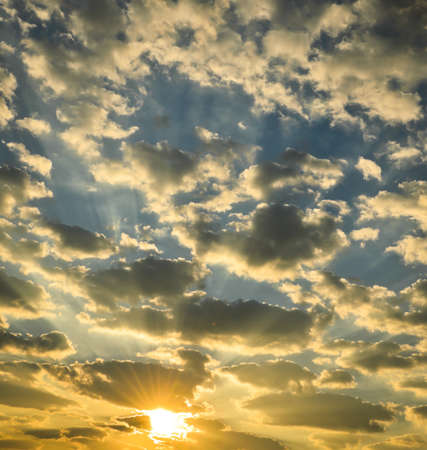 Dramatic sunrise sky Stock Photo - 17160476