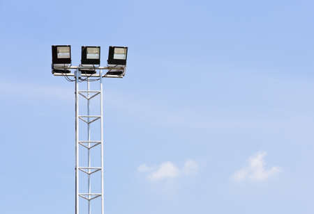 Floodlight in blue sky Stock Photo - 18604183