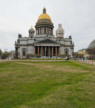 St  Isaac s Cathedral in St  Petersburg, Russia  The largest Russia Orthodox church in the city  photo