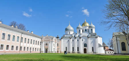 veliky: St  Sophia cathedral or Cathedral of Holy Wisdom of God in Novgorod, Russia