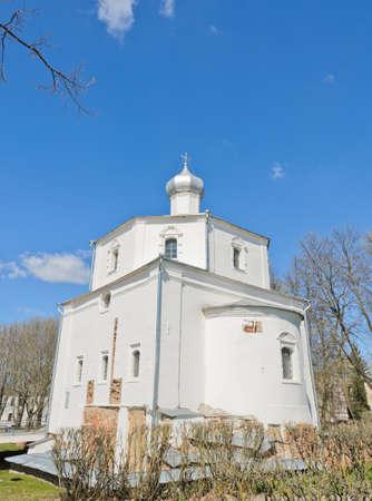 veliky: Orthodox church at Yaroslav s Court in Veliky Novgorod, Russia