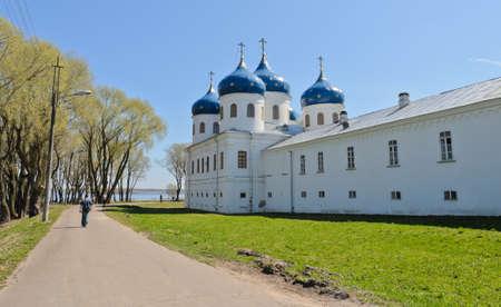 volkhov: St  George s Monastery in Veliky Novgorod, Russia