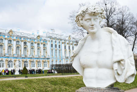 by catherine: Garden statue in Catherine Palace at Tsarskoye Selo  Pushkin , St  Petersburg, Russia Stock Photo