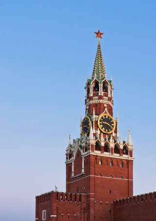 Spasskaya tower or Savior s tower of Moscow Kremlin,  Russia  photo