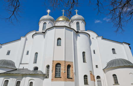 veliky: St  Sophia cathedral or Cathedral of Holy Wisdom of God in Novgorod Kremlin, Russia