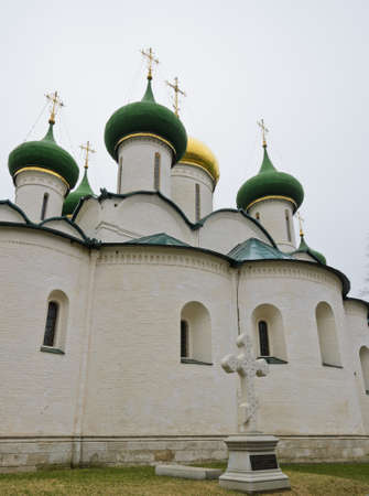 transfiguration: Transfiguration Cathedral in Monastery of St  Euthymius in Suzdal, Russia Stock Photo