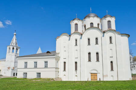 st  nicholas cathedral: St  Nicholas Cathedral at Yaroslav s Court  in Veliky Novgorod, Russia