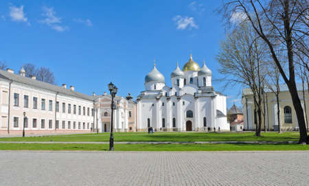 St  Sophia cathedral or Cathedral of Holy Wisdom of God in Novgorod, Russia