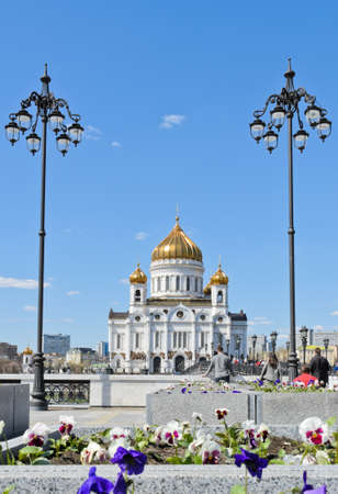 Orthodox Church of Cathedral of Christ the Saviour in Moscow, Russia photo