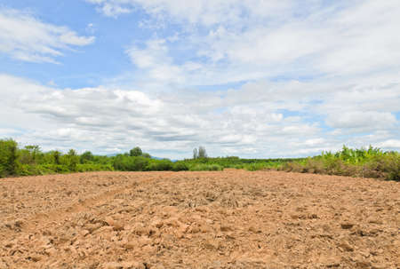 plowed: Agricultural plowed ground  Stock Photo