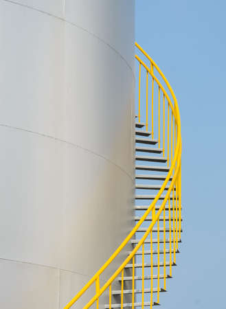 Ladder on storage tank photo