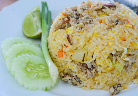 Fried rice with crab ,Thai cuisine photo
