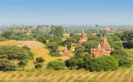 Ancient temples in Bagan, Myanmar photo